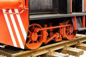 old locomotive on the rails — Stock Photo