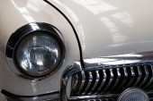 Fragment of a white old car close up — Stock Photo