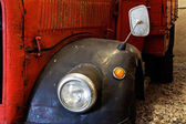 Fragment of old fire engine close up — Stock Photo