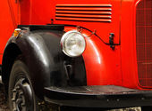 Fragment of the old fire engine  — Stock Photo