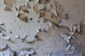 Old cracked and dilapidated wall of the building — Foto de Stock