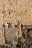 Old cracked and dilapidated wall  — Foto de Stock