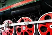 The Wheels  of an old locomotive  — Stock Photo