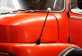 Fragment a the old fire engine  — Stock Photo