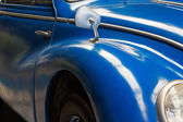 Fragment of the old blue car  — Foto de Stock