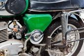 Fragment of rusty old motorcycle — Foto de Stock
