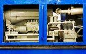 Mechanical parts of an old turbine engine — Zdjęcie stockowe