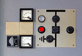 Old meter on the control panel — Stock Photo
