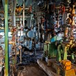Old machinery of an abandoned factory from the inside — Stock Photo #58811117