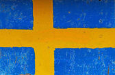 Flag of Sweden on concrete wall — Stock Photo