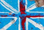 Flag of England on concrete wall — Stock Photo