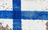 Flag of Finland on concrete wall — Stock Photo