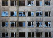 Old abandoned building with broken windows — Stock Photo