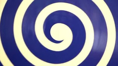 Hypnotic rotating blue spiral on white — Stock Video