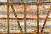 Brick wall of the half timbered house — Stock Photo
