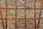 The Brick wall of  half timbered house — Stock Photo