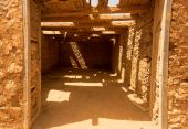 Old colonial buildings  Casa de los Coroneles in  La Oliva on Fu — Stock Photo