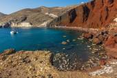 Red Beach Santorini — Foto Stock