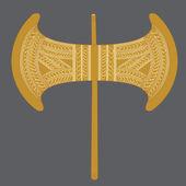 Labrys Minoan Golden Double Axe — Cтоковый вектор