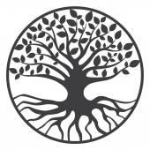 Tree of Life Yggdrasil World Tree — Stock Vector