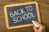 Blackboard with the text Back to school — Stock Photo
