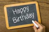 Blackboard with the text Happy Birthday — Foto Stock