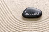 Black stone with the inscription Success — Stock Photo