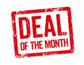 Red Stamp - Deal of the month — Stock Photo