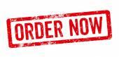 Red Stamp - Order now — ストック写真