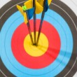 Target with three arrows in the center — Stock Photo #53372211