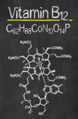 Blackboard with the chemical formula of Vitamin B12 — Stock Photo