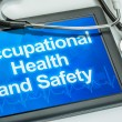 Tablet with the text Occupational Health and Safety — Stock Photo #54704371