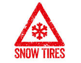 Red Stamp - Snow Tires — Stockfoto