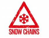 Red Stamp - Snow Chains — Stockfoto