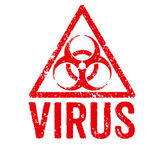 Red Stamp - Virus — Stockfoto