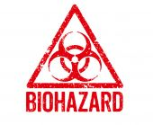 Red Stamp - Biohazard — 图库照片