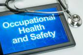 Tablet with the text Occupational Health and Safety — Stock Photo