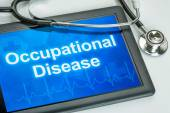 Tablet with the text Occupational disease on the display — Stock Photo