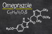 Blackboard with chemical formula — Zdjęcie stockowe