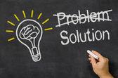 Problem - Solution — Zdjęcie stockowe