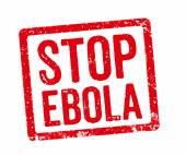 Red Stamp - Stop Ebola — Foto de Stock