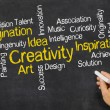 Word Cloud on a blackboard - Creativity — Stock Photo #58357963