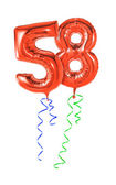 Red balloons with ribbon — Stock Photo