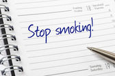 Stop smoking written on a calendar page — Stock Photo