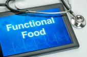 Tablet with the text Functional Food on the display — Stock Photo