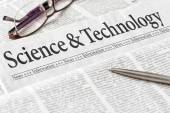 A newspaper with the headline Science and Technology — Stock Photo