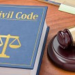 A law book with a gavel - Civil Code — Stock Photo #69425489