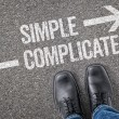 Decision at a crossroad - Simple or Complicated — Stock Photo #69617015