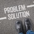 Decision at a crossroad - Problem or Solution — Stock Photo #69617021