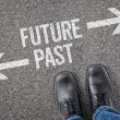 Decision at a crossroad - Future or Past — Stock Photo #69617043